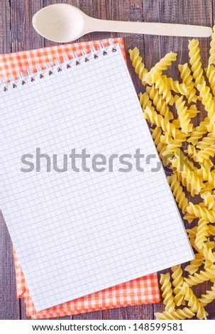 note for recipe - stock photo