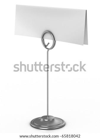 note holder 3d illustration - stock photo
