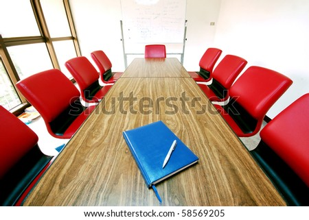 Note in the Meeting room - stock photo