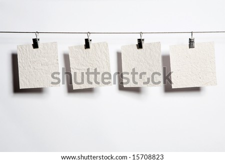 note on cord - stock photo
