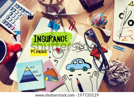 Note Pad and Insurance Concept - stock photo