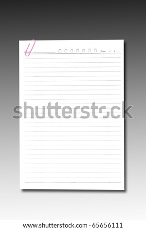 note paper and paper-clip - stock photo