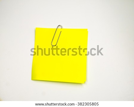 note paper on background - stock photo