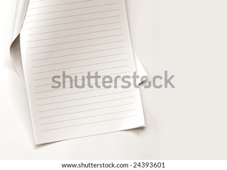 Note paper on gradient background - stock photo