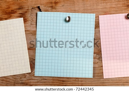 note paper on the wood background - stock photo