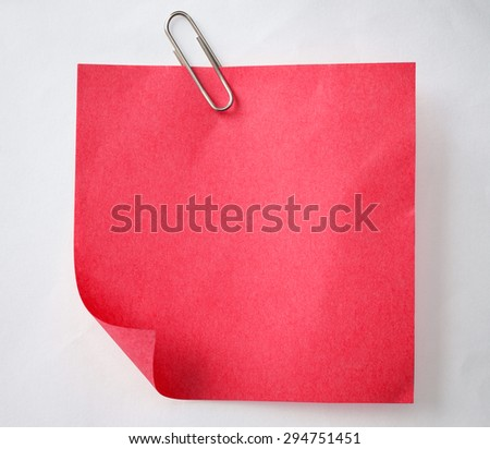 Note paper red - stock photo
