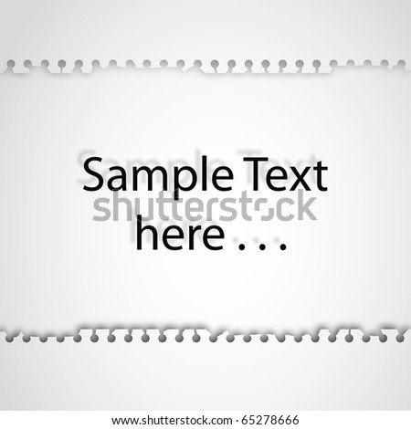 Note Paper Ripped off on isolated white background for sample text and design - stock photo