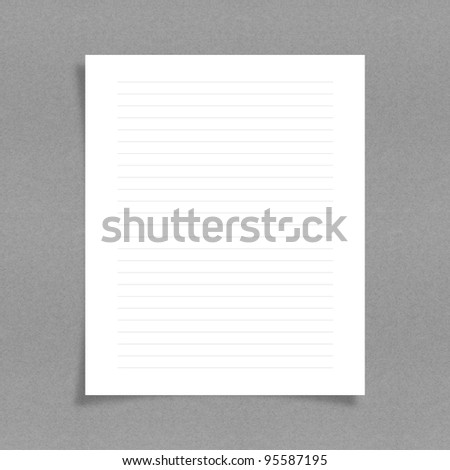 note paper with line on board background - stock photo