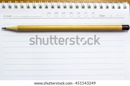 Note paper with pencil - stock photo