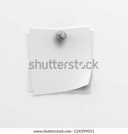 note papers and grey pin - stock photo