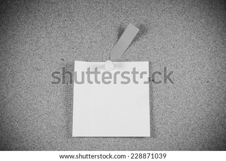 note papers on cork board background. - stock photo