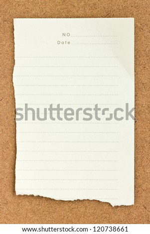 Note papers on wooden background. - stock photo