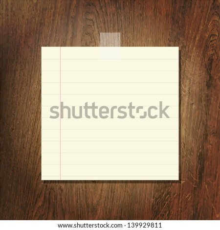 Note Papers On Wooden Background - stock photo