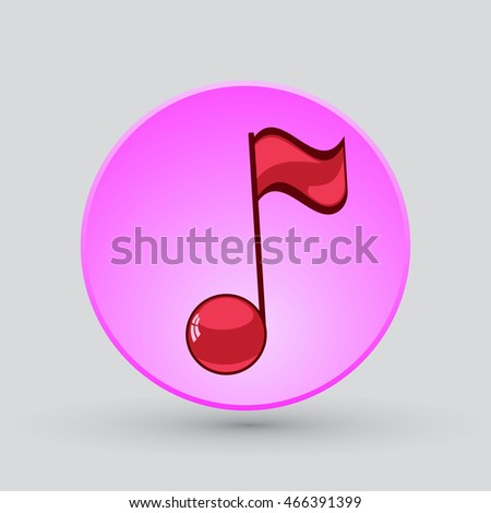 Note sing icon. Musical symbol