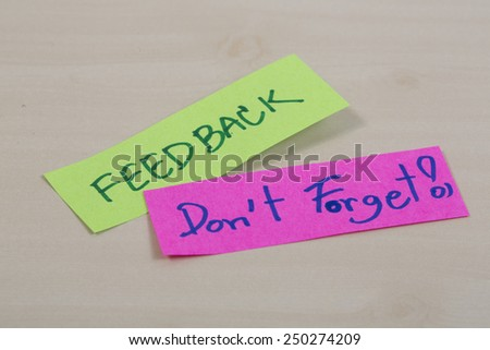 Note with don't forget. - stock photo
