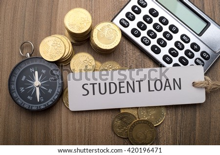 Note written: Student Loan, financial concept - stock photo