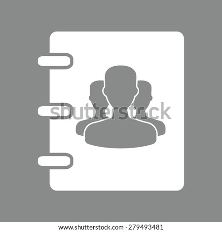 Notebook, address, phone book icon - stock photo