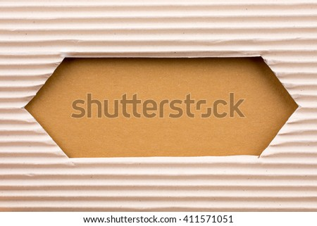 Notebook and a Cut out paper with pattern  on a white background - stock photo