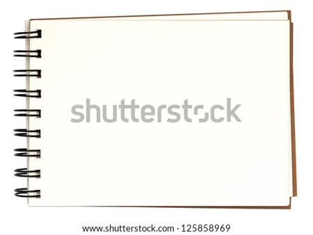 notebook and blank paper - stock photo