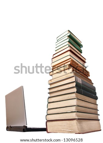 notebook and books