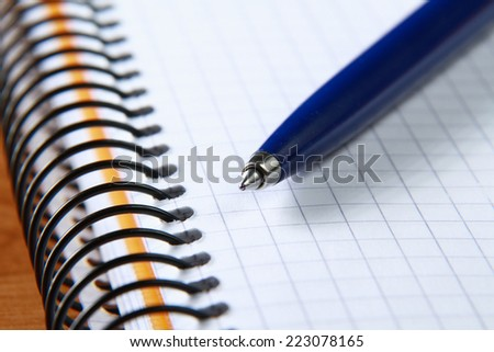 Notebook and pen. - stock photo