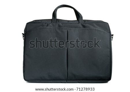 Notebook bag on the white background