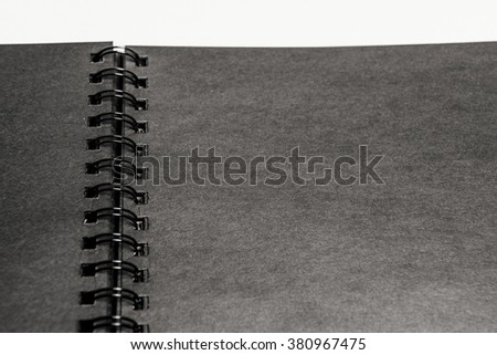 Notebook black paper