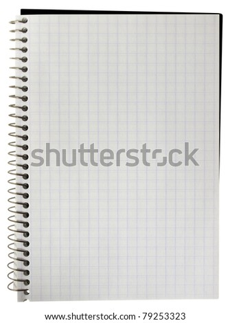 Notebook blank isolated over white background. Clipping Path included. - stock photo