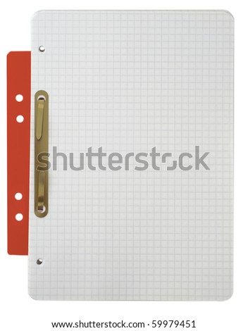 Notebook - Blank Note Book For write - stock photo