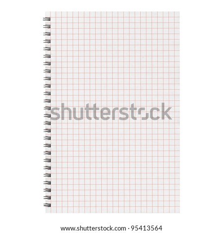 Notebook blank page useful as a background