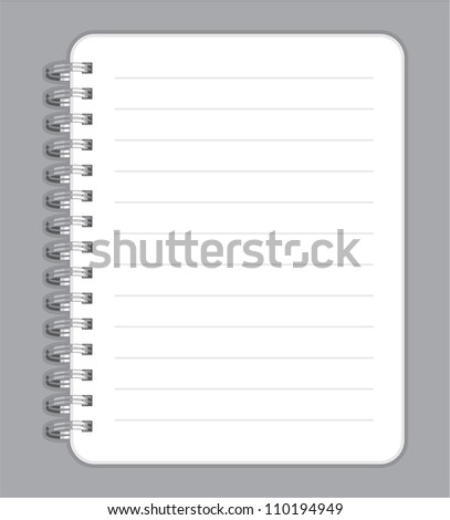 notebook blank with metal wire
