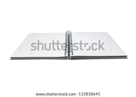 notebook bookmark - stock photo
