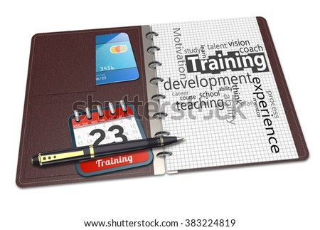 Notebook concept word cloud illustration of personal development - stock photo