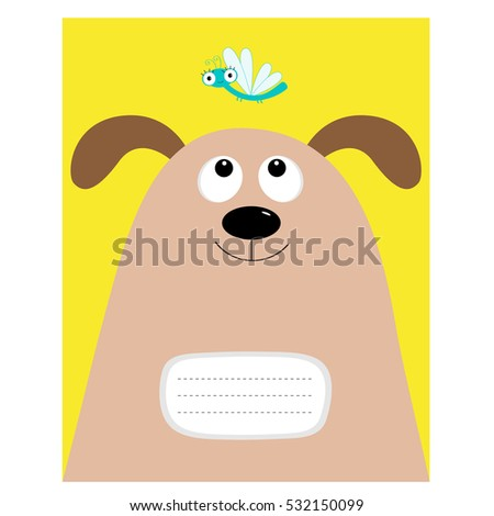 notebook cover composition book template dog stock vector 517314724 shutterstock. Black Bedroom Furniture Sets. Home Design Ideas
