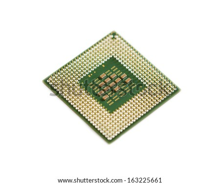 Notebook CPU isolated on white background. - stock photo