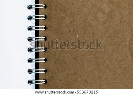 notebook craft paper and white art paper texture close up