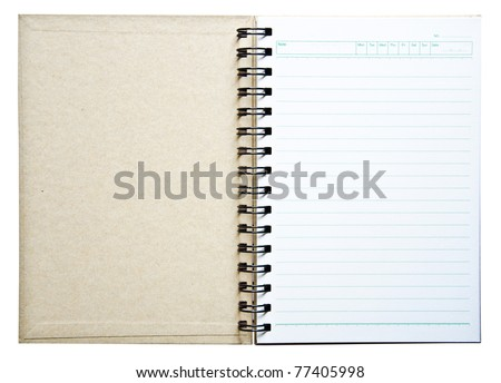 Notebook for the record. - stock photo
