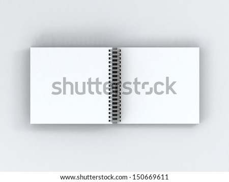 notebook for work and taking notes on a spring on an empty background - stock photo