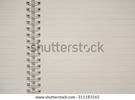 Notebook in lines