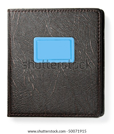 Notebook is isolated on the white background - stock photo