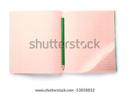 Notebook isolated on the white background - stock photo