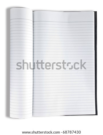 Notebook isolated on white - stock photo