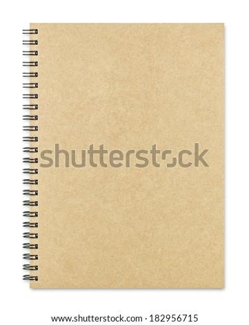 Notebook isolated on white background - stock photo