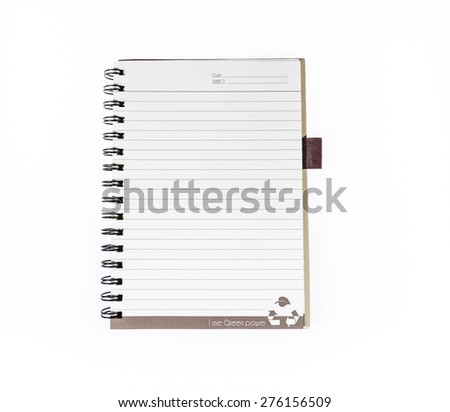 Notebook isolated on white background,Notebook,book
