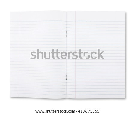 Notebook Lined Paper and Texture - stock photo