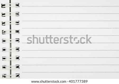 Notebook Lined Paper Background  - stock photo