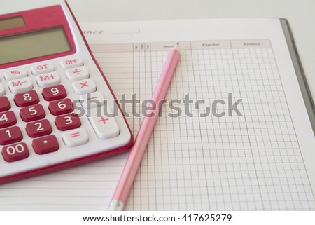 notebook monthly income and expenses