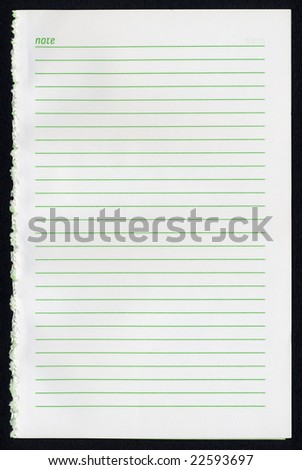 Notebook note pad page office stationery scrapbook