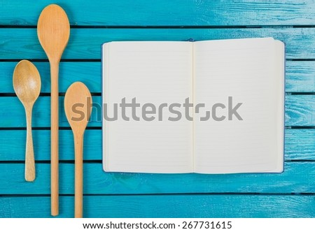 Notebook, old, background. - stock photo