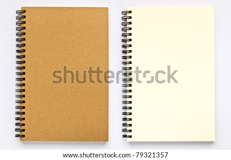 notebook on a white background - stock photo